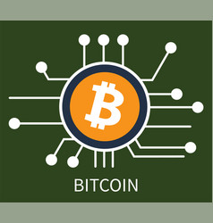 bitcoin cryptocurrency poster vector image vector image