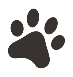 Black footprints of dogs foot silhouette vector