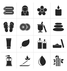 Black Spa objects icons vector