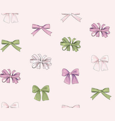 Bow fashion seamless pattern holiday decor gift vector