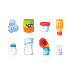 breastfeeding icons maternity nurse baby vector image