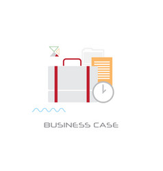 briefcase with document contract business case vector image