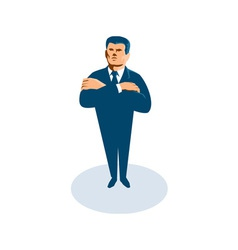 businessman secret agent arms crossed vector image