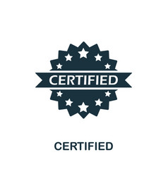 Certified icon symbol creative sign from vector