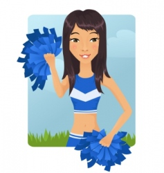 Cheerleader girl vector