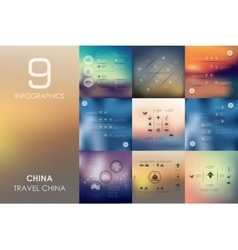 China infographic with unfocused background vector image