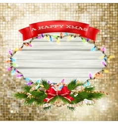 Christmas Branches with golden baubles EPS 10 vector image