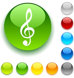 Clef button vector