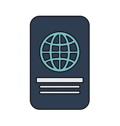 Closed passport out icon imag vector