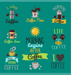 Coffee badge food design hand drawn calligraphic vector