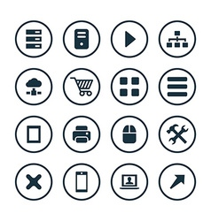 computer icons universal set vector image