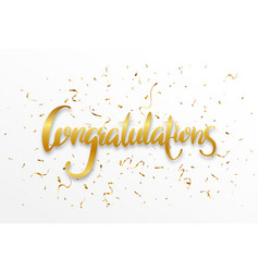 Congratulations sign letters banner vector