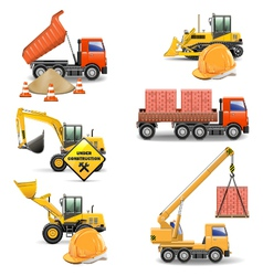 Construction Machines Set 4 vector image