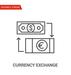 currency exchange icon thin line vector image