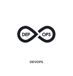 Devops isolated icon simple element from vector