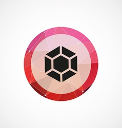 Diamond circle pink triangle background icon vector