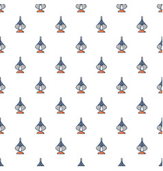 Excavator bucket pattern seamless vector