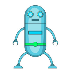 Fiction robot icon cartoon style vector