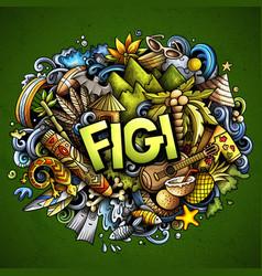 Figi hand drawn cartoon doodles vector