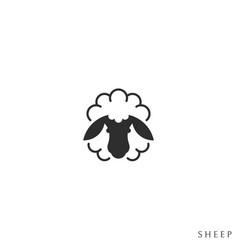 fluffy sheep vector image