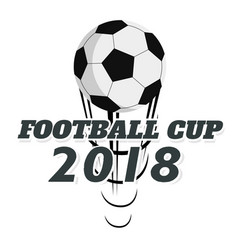 Football cup 2018 flying socer ball white backgrou vector
