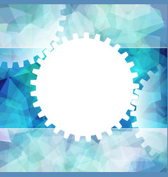 Gears white symbol background teamwork business vector