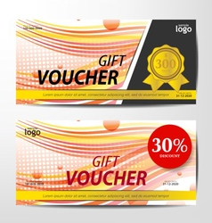 Gift Voucher Template sporty and colorful style vector