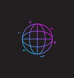 globe map icon design vector image