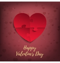 Happy Valentines Day greeting card template vector image