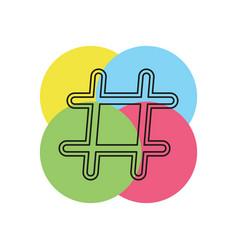 hashtag icon element vector image