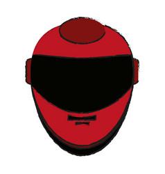 helmet draw vector image