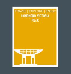hongkong victoria peak hongkong monument landmark vector image
