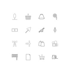 industry simple linear icons set outlined icons vector image
