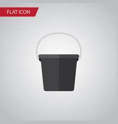 Isolated bucket flat icon pail element can vector