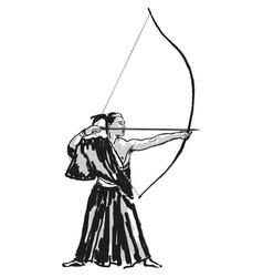 japanese warrior samurai vector image