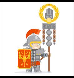 Legion flag roman legionare warrior praetorian vector