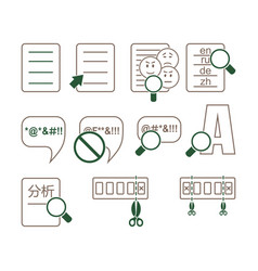 Linguistic icons vector