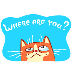 Lonely cat vector