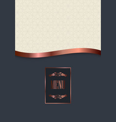 luxury menu cover design vector image