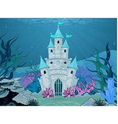 Mermaid Castle vector image