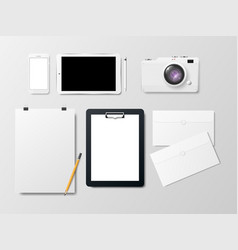 mockup of business identity on a white background vector image
