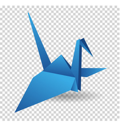 origami paper bird polygonal vector image