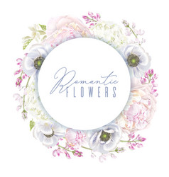 Peont anemone wreath vector