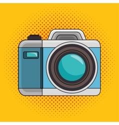 photo camera pop art icon design graphic vector image