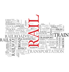 Rail word cloud concept vector