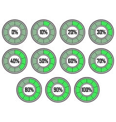 Round Loader Progress Bar vector image vector image