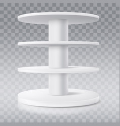 round shelf shop display stand or rack vector image