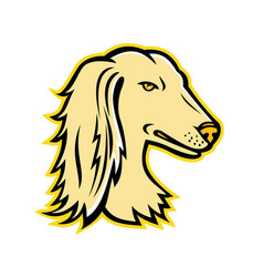 Saluki or persian greyhound mascot vector