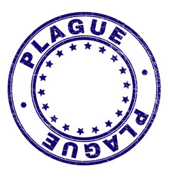 Scratched textured plague round stamp seal vector