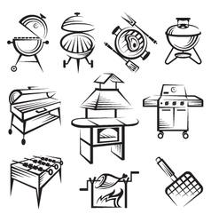 Set barbecue design vector